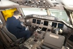 Flight deck of AA's new 777-300ER.  (Photo by Tad Carlson)