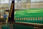 A Ryanair 737-800 nearing the end of the assembly line. (Photo by Matt Molnar)