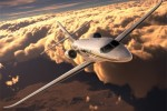 Cessna Citation Latitude in the air. (Rendering by Cessna)