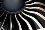 The blades of the mighty GE 90-115B engine