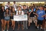 Grand prize winner Aaron Nee poses with his classmates. (Photo by Alaska Airlines)