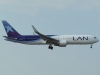 LAN passes overhead to land on runway 31R