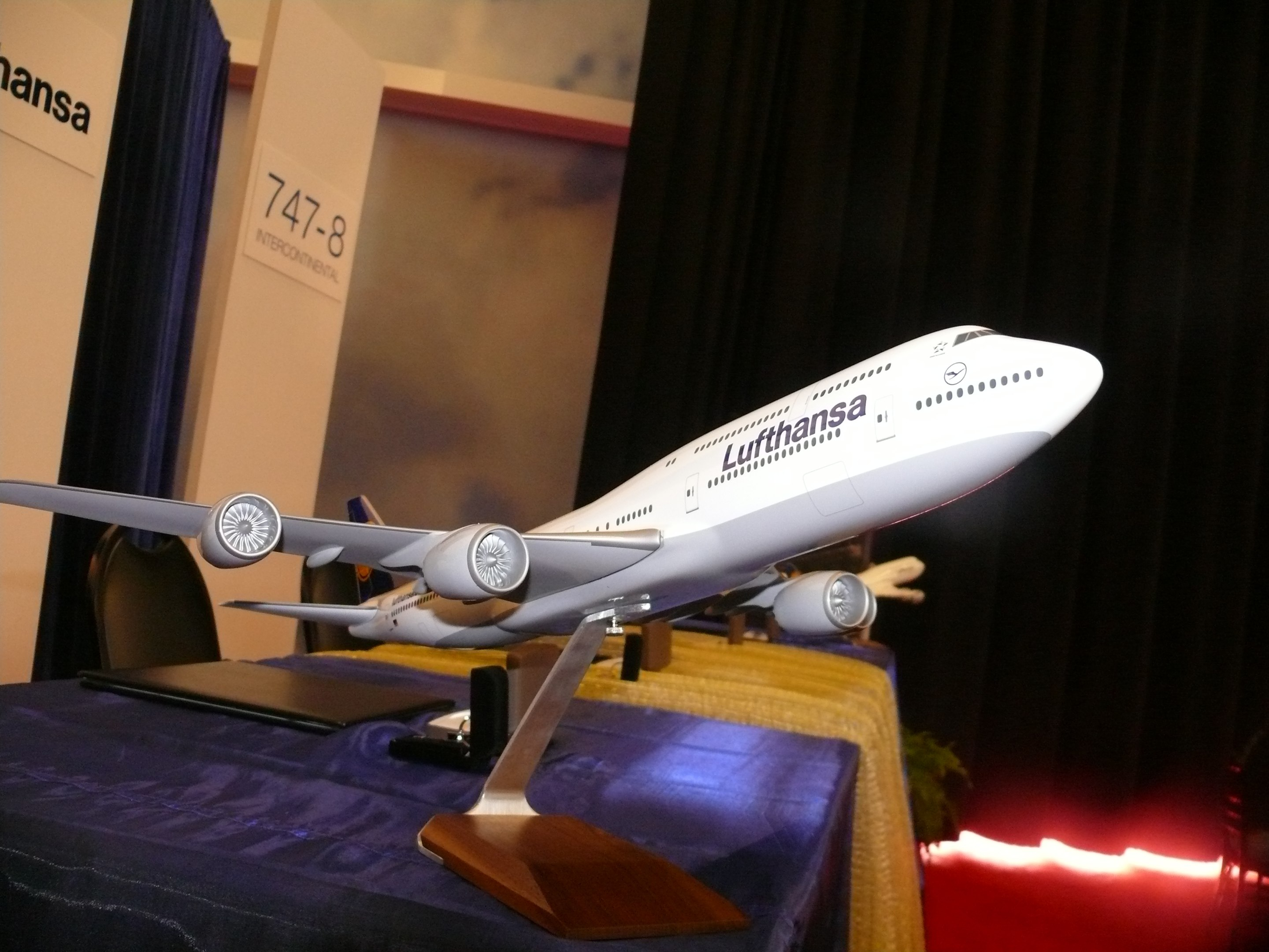 Lufthansa Boeing 747-8I delivery press conference. (Photo by Chris Sloan/Airchive.com)