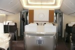 First Class on Lufthansa Boeing 747-8I. (Photo by Chris Sloan/Airchive.com)