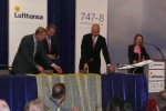 The ceremonial delivery paperwork signing. (Photo by Chris Sloan/Airchive.com)