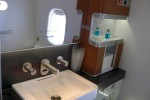 First Class lavatory sink. (Photo by Chris Sloan/Airchive.com)