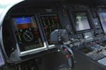 Cockpit of the AgustaWestland AW139 helicopter.