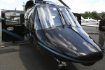 Nose of the Bell 430 helicopter.