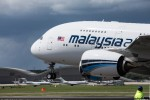 Malaysia Airlines Airbus A380 touch and go. (Photo by Airbus)