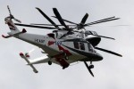 Agusta Trio flight demo. (Photo by Farnborough International)