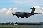 Airbus Military's A400M is becoming a familiar sight at leading aviation events in the world, and it will be on static display during the 2012 Farnborough Airshow. (Photo by Airbus)