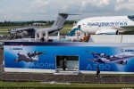 The A400M and A380 have a prominent presence at the 2012 Farnborough Airshow as part of Airbus' high-level participation in this biennial aerospace industry event. (Photo by Airbus)