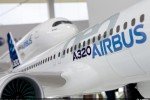 The A320neo is one of the modern jetliner families highlighted on Airbus' exhibit stand area at the 2012 Farnborough International Airshow. (Photo by Airbus)