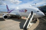 The first A380 for Thai Airways International (THAI) – which was delivered on 27 September 2012 – is configured with 12 private suites in Royal First Class, 60 fully flat sleeper seats in Royal Silk Class and 435 seats in Economy. (Photo by JB Accariez/Airbus)