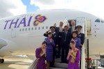 Thai Airways International (THAI) became the ninth airline to receive an Airbus A380 jetliner during a ceremony held in Toulouse, France. (Photo by P. Masclet/Airbus)