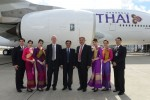 During a ceremony held in Toulouse, France, Thai Airways International (THAI) took delivery of its first of six A380s on order. (Photo by P. Masclet/Airbus)