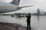 A United pilot snaps a photo of the airline's first Boeing 787 (N20904). (Photo by Jack Harty)