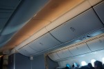 Colored lighting during meal service aboard United 787 inaugural flight. (Photo by Chris Sloan-Airchive.com)