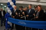 Ribbon cutting for the inaugural United 787 flight. (Photo by Chris Sloan-Airchive.com)
