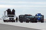 SWAT team staging.