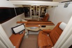 First Class mid cabin suite partition open. (Photo by Manny Gonzalez)