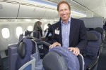 Dave Hilfman, Senior Vice President Sales for United, poses onboard. (Photo by Dan King/NYCAviation)