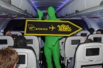 Green Man aboard Virgin America Flight 10. (Photo by Manny Gonzalez/NYCAviation)
