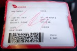 Boarding pass for VRD1 to DCA.