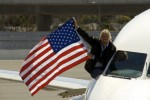 Sir Richard Branson hanging out after the inaugural flight from JFK arrives at SFO. (Photo by James Castañeda)