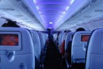 On board first ever Virgin America flight, VX001, JFK-SFO. (Photo by Johnny Vulcan)