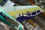 Tail of a 747-8F destined for U.S. launch customer Atlas Air