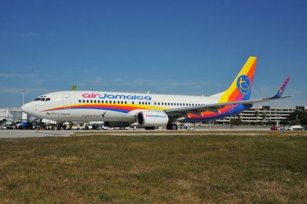 Air Jamaica 737-800 9Y-JMA at FLL. (Photo by David M Knies)