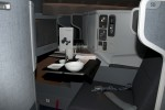 Business Class seat on AA's new 777-300ER. (Photo by Tad Carlson)