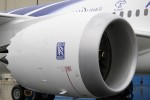 Closeup of the 64,000-lb-thrust Rolls-Royce Trent 1000 engine. (Photo by Brandon Farris)
