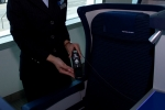 ANA 787 business class seat.