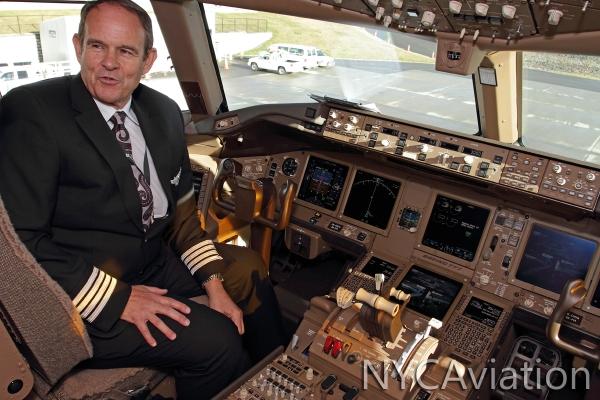 Pilot taking questions