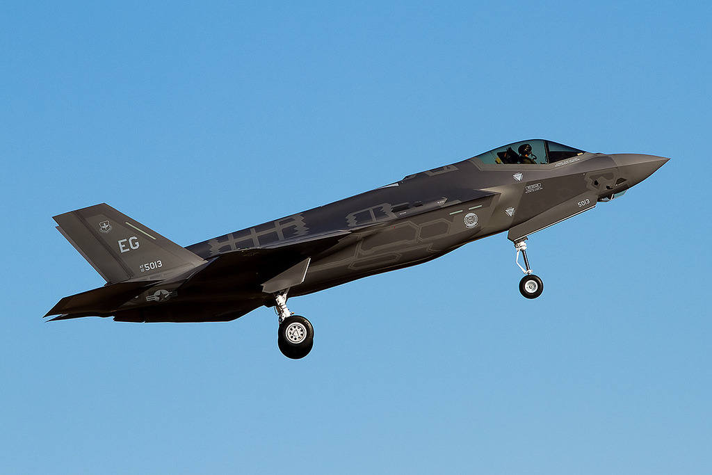 F-35 Lightning II in great light at AFW. (Photo by Nick Peterman)