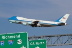 Air Force One leaving Richmond. (Photo by Nick Peterman)