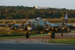 B-17 Flying Fortress at Norwood, Mass. (Photo by Rich Barnett)