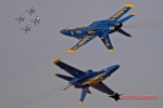 Two Blue Angels maneuvers at once. (Photo by Stephen Furst)