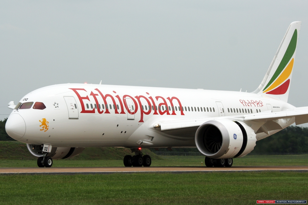 Ethiopian Airlines Boeing 787 at IAD. (Photo by Mark Hsiung)