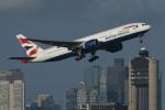 British Airways 777-200 departing Boston. (Photo by Rich Barnett)