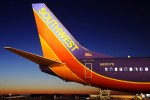 Southwest 737 at sunset. (Photo by Gordon Gebert Jr.)
