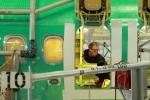 At work inside the fuselage. (Photo by Matt Molnar)