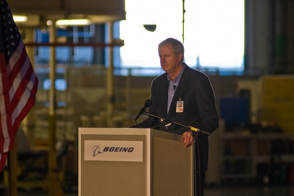 Boeing CEO Jim Albaugh.