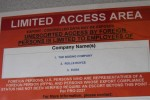 Limited access area!