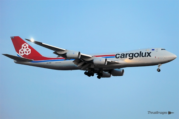 Cargolux 747-8F (LX-VCD) on approach to JFK. (Photo by Manny Gonzalez)
