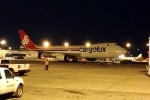 Unloaded and ready to roll. Cargolux 747-8F (LX-VCD) taxiing to the active at JFK. (Photo by Manny Gonzalez)