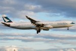 An Airbus A340-300 (B-HXN) on short final for London Heathrow