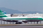 A Cathay Lockheed L-1011 TriStar (VR-HOA) taxis after landing at Osaka